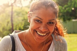 Indigenous female on street