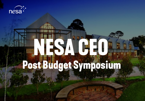 NESA CEO Post Budget Symposium Banner - NESA Events