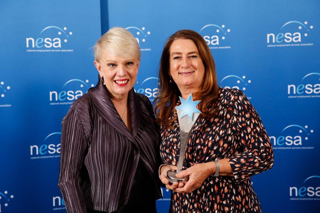 AWARDS2018 Employment Consultant WINNER Diedre Hindmarsh 1024x683 - 2019 NESA Awards for Excellence