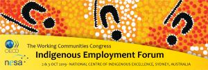 The Working Communities Congress Indigenous Employment Forum @ Sydney