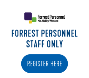 PD EVENTS CLICK BUTTONS Forrest Personnel Logo 300x263 - Time and Energy Management Strategies for People Working in Employment Services