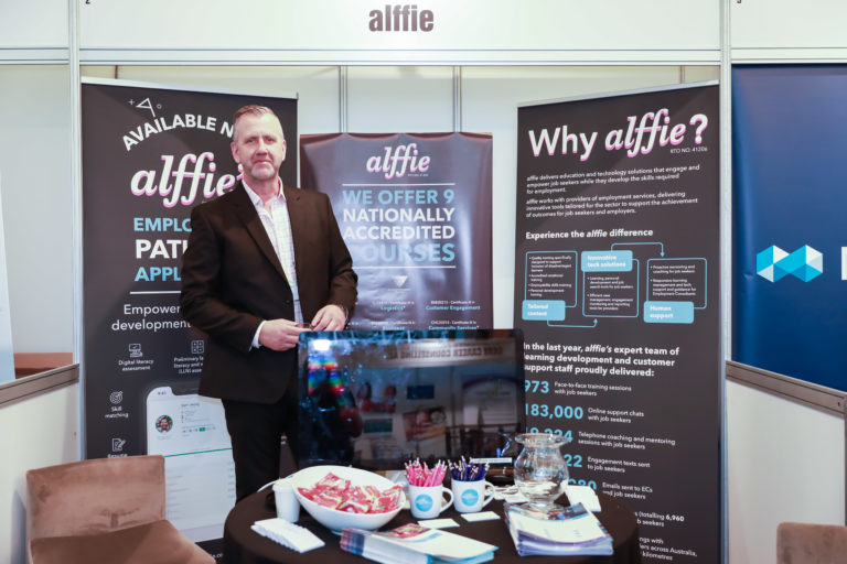 NESACONF19 alffie booth with Mick 2259 768x512 - NESA Conference 2021 - Exhibition Opportunities