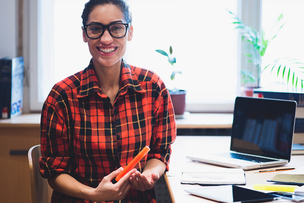 Stock Image Female Laptop Glasses - 2021 International Innovation Masterclass Series