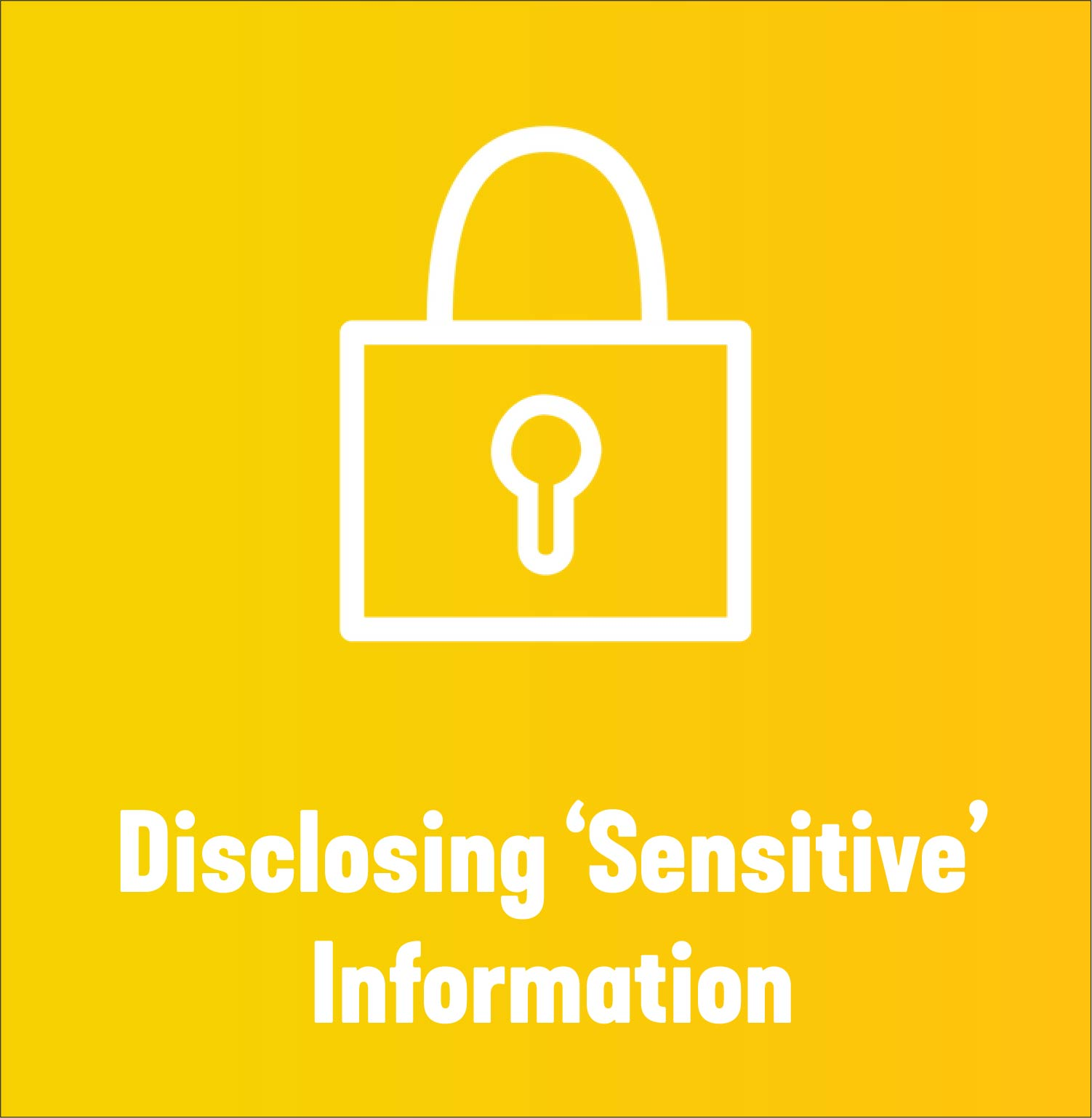 NESA Practitioner Toolkit Disclosing sensitive info